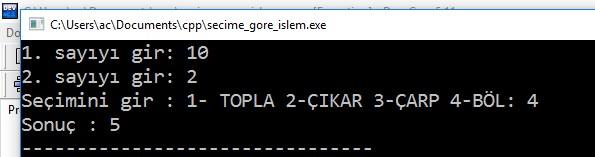 secime_gore_islem