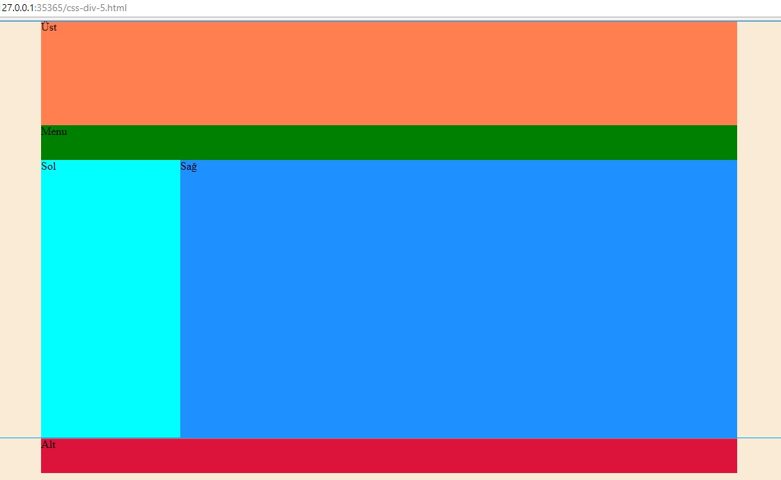 Css div kullan m rnekleri 5 web tasar m programlama - Html div width ...